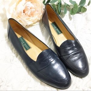 Cole Haan Navy Blue Eliza Loafers